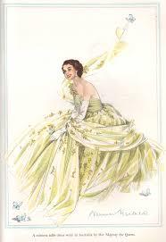 norman dresses norman hartnell elizabeth 11 tulle dress 1950s britain