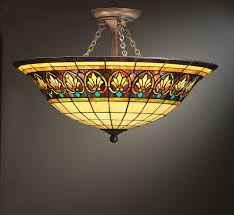 Yellow Glass Ceiling Light Tiffany Style Ceiling Light Fixture Shades New Lighting