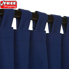 Curtains With Tabs Outdoor Curtain With Tabs True Blue