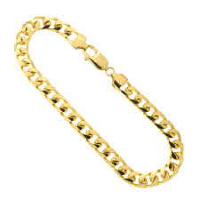 chain bracelet mens images Men 39 s solid 14k yellow gold 6 5mm heavy miami cuban link chain jpg