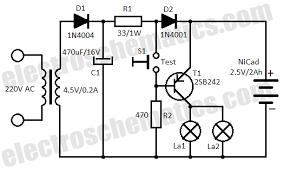 automatic emergency light circuit