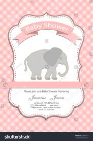 Indian Baby Shower Invitation Cards Baby Baby Shower Invitation Card Stock Vector 214888525