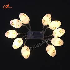 aa battery light bulb easter egg globe 10 led string lights beauty floral white amber bulb