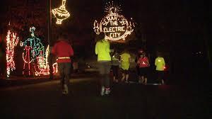 nay aug park christmas lights final run around scranton at nay aug park wnep com
