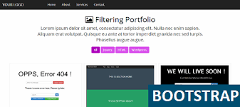 bootstrap filter portfolio template free html