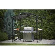 hampton bay walker 8 ft x 5 ft steel grill gazebo l gz411pst