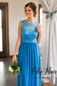 ivy bridesmaid dress in blue u2013 filly flair