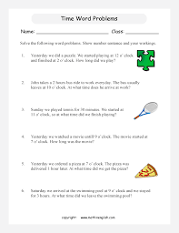 grade 1 math word problems worksheets solve these time word problems with time problems to the nearest