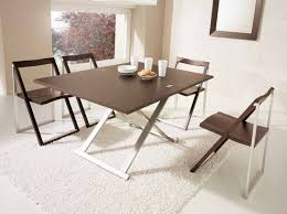 small stainless steel kitchen table simple folding dining table ideas for small spaces with stainless