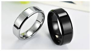 wedding bands for him and engravable tungsten wedding bands for him and with beveled