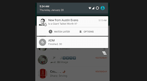 android bar now lets you later directly from the notification