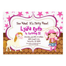 personalized cowgirl birthday invitations custominvitations4u com