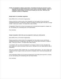 43 resignation letters in doc free word format download