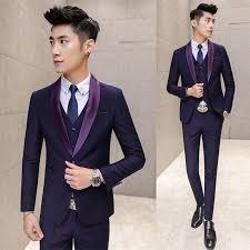 mariage homme 2017 wholesale purple prom suit costume mariage homme navy purple