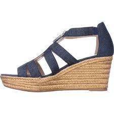 lauren ralph lauren kelcie platform wedge sandals blue