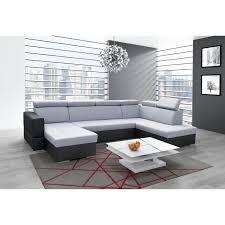canap panoramique convertible canapé panoramique convertible softy gris et noir achat
