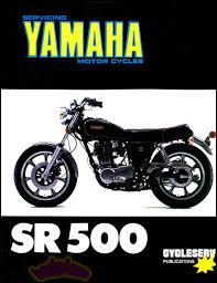 yamaha sr500 shop manual service repair book sr 500 service single