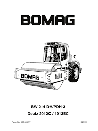 bomag bw145dh 3 pdh 3 service manual pump valve