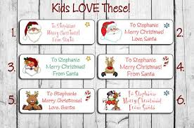 personalized christmas for kids personalized christmas santa labels for kids gifts personalized