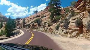 zion nationalpark scenic drive utah full ride onboard front