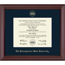 degree frames penn state diploma frames psu gifts for alumni
