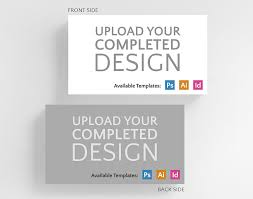 Business Card Standard Dimensions Upload Your Completed Design Horizontal Business Card Standard