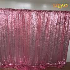 pink gold shimmer sequin fabric backdrop 10x10 wedding photo booth Pink And Gold Curtains
