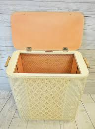 Clothes Hampers With Lids Bathroom Marvelous Vintage Hawkeye Wicker Clothes Hamper