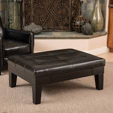 shop best selling home decor chatham black faux leather ottoman at