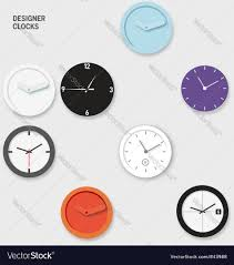 designer wall clocks royalty free vector image