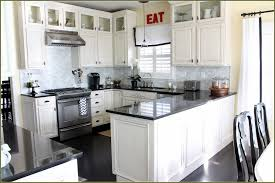 kitchen black granite countertop black wooden floor kitchen