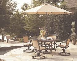 Low Price Patio Furniture - garden treasures potters glen aluminum swivel rocker patio dining