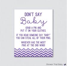 purple and grey baby shower invitations don u0027t say baby baby shower game in purple ombre chevron