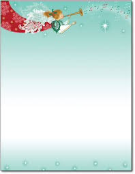 christmas border writing paper christmas holiday stationery paper herald angel christmas paper 80 sheets