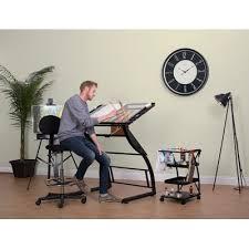 Studio Designs Drafting Tables Studio Design Pewter Teak Zenith Drafting Table Studio Designs
