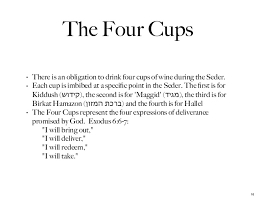 four cups passover what does the four cups of wine represent at passover