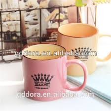 lovely ceramic milk mug with handle high quality decorative