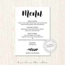 editable menu template 50 best wedding place cards images on themed weddings