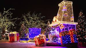 New Year Lighting Decorations by North American Houses Brightly Light With Christmas Lights And