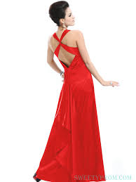 red long cheap prom dresses with criss cross back cheap prom
