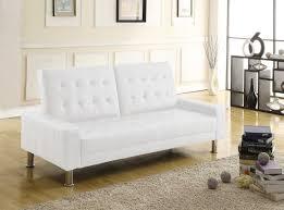 canape cuir blanc convertible canapé 2 places en simili cuir blanc et convertible en lit 2