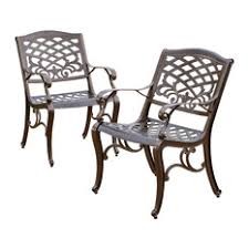 Metal Outdoor Dining Chairs Cast Aluminum Outdoor Patio Furniture Houzz