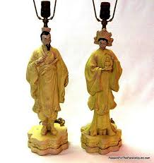 japanese vintage figural chalkware table lamps sold passion for