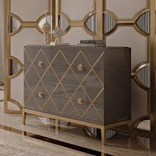 italian designer lacquered art deco inspired chest of drawers at