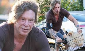 Mickey Rourke News Newslocker - mickey rourke goes on bike ride in hollywood with his precious
