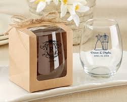 wedding favor containers kraft 9 oz glassware gift box set of 12 kate aspen