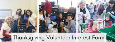 thanksgiving volunteer interest form families forward