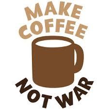 Coffee War silhouette design store view design 234439 make coffee not war