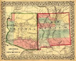 New Mexico State Map by Arizona And New Mexico