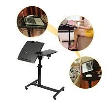 Kleiner Schreibtisch Holz Beweglich Laptopständer Pc Tisch Höhenverstellbar Notebookständer